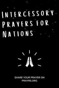 Intercessory Prayers for Nations (1)