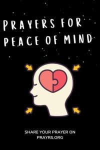 Prayer for Peace of Mind