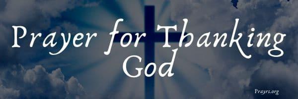 Prayer for Thanking God