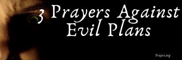 Prayers Against Evil Plans